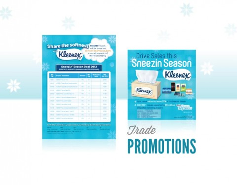Echo Design created Kleenex Trade Promotions
